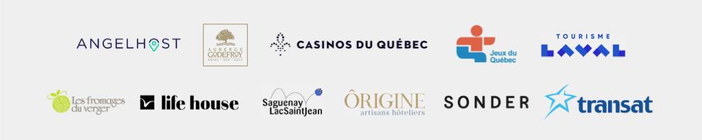 Clients Alpha Premium - Angelhost, Auberge Godefroy, Tourisme Laval, life house, Saguenay LacSaintJean, Sonder, Transat